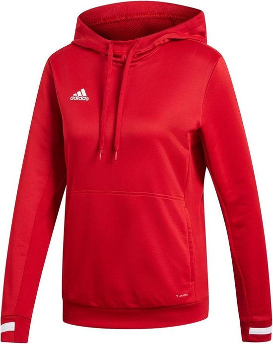 Adidas Team 19 Dames Hoody - Sweaters - rood - XL