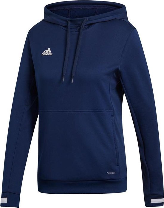 Adidas Team 19 Dames Hoody - Sweaters - blauw donker - XL