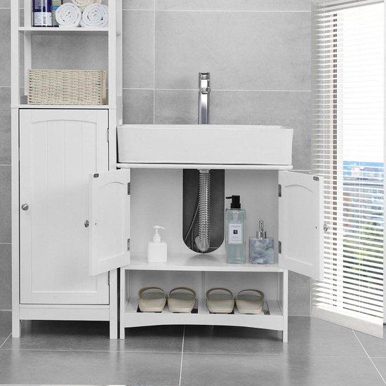 Bol Com Onder Kastje Voor De Badkamer Met Open Ruimte Voor Handdoeken Kast Voor Wastafel
