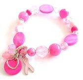 Pretty Pinky geluksarmband voor Pink Ribbon