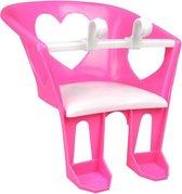 Fietszitje voor Poppen - Fietsstoeltje - Paars   Roze