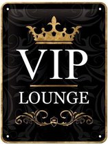 Gebold tin bord: VIP lounge | 15 x 20 cm