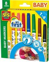 Ses My First - Baby Markers - 8 Kleuren