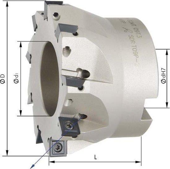 Hoekfrees met IK, 5 tanden, voor SOMT09 D 40mm, 90°