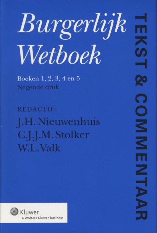 Tekst & commentaar burgerlijk wetboek - Nvt. |