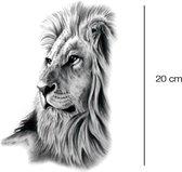 Leeuwenkop Plak Tattoo
