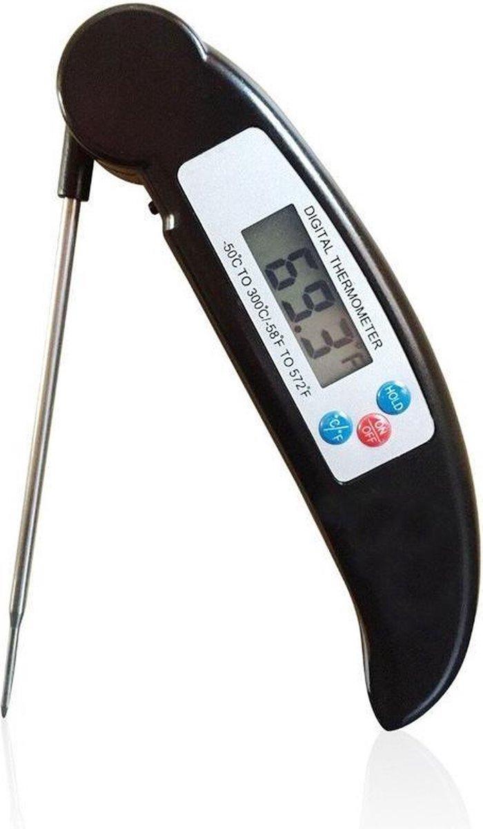 Voedselthermometer- Digitale Kookthermometer- Vleesthermometer- BQQ thermometer (ZWART)