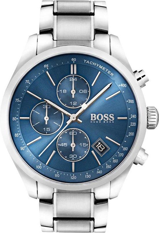 Hugo Boss HB1513478 Grand Prix Horloge - Staal - Zilverkleurig - Ø44 mm
