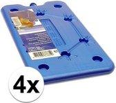 4 platte koelbox koelelementen blauw