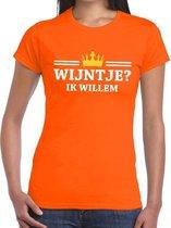 Oranje Wijntje ik willem shirt dames - Oranje Koningsdag kleding