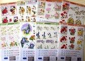 Top Voordeel Pakket - Janneke Brinkman+Bloemen+Basispapier - 3D Knipvellen – 0.a. Voor het maken van kaarten en scrapbooking – 30 verschillende A4 Vellen in totaal