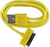 2 stuks - iPhone 4 USB oplaad kabel geel | 3 METER kabeltje voor iPhone 4/4G/4S/3G/3GS/iPod 1/2/3