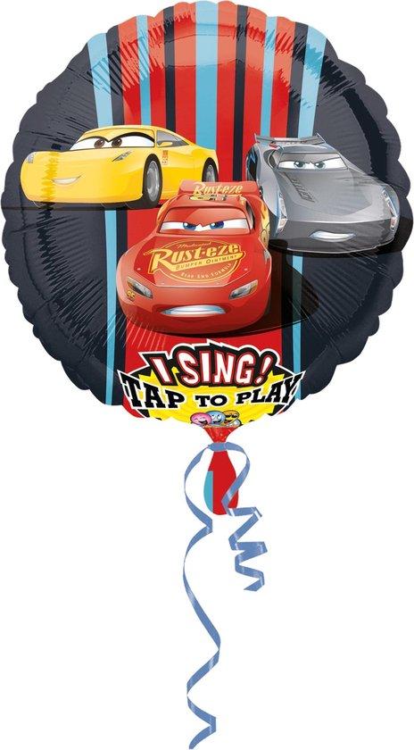 AMSCAN - Aluminium Cars 3 ballon met muziek - Decoratie > Ballonnen