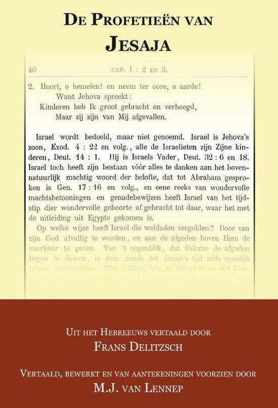 De Profetieen van Jesaja - Franz Delitzsch |