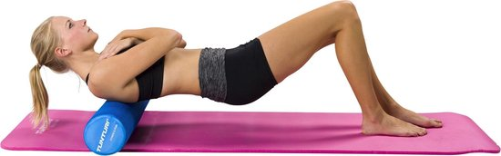 Tunturi Yoga Grid Foam Roller - Foam roller the grid - Foamroller - Fitness Roller - 33cm - Oranje
