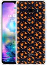 LG G8X ThinQ Hoesje Orange Soccer Balls