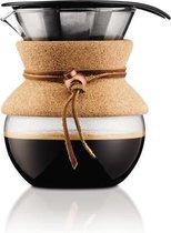 Bodum Pour Over Cafetière - 0,5 l - 4 kops -  permanent filter - Kurk
