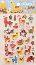 Lg-imports Stickervel Multicolor Alpaca's 19 X 10 Cm 29 Stuks
