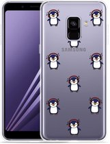 Samsung Galaxy A8 Plus 2018 Hoesje Chillin like a penguin