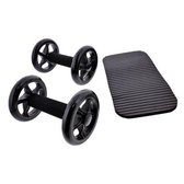 Q4Life Core Trainings Wielen SET - Buikspier trainer INCLUSIEF Knie mat - Trainingswiel voor buikspieren - Ab Wheel Roller - Buikspieren Fitness voor thuis