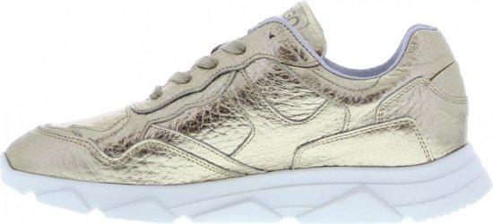 Tango | Kady 1-am Gold Tumbled Leather Sneaker - White Sole Maat: 36 tru2fX