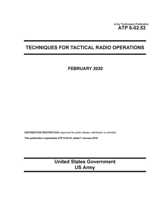 Army Techniques Publication ATP 6-02.53 Techniques for Tactical Radio Operations February 2020