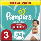 Pampers Baby-Dry Pants Luierbroekjes - Maat 3 (6kg-11kg) - 94 Stuks - Maandbox