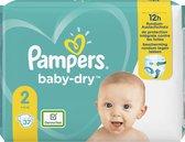 Pampers Baby-Dry Maat 2, 37 Luiers, Tot 12 Uur Bescherming, 4-8kg