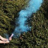 Confetti en rookkanon blauw gender reveal