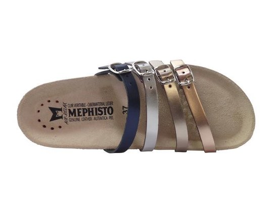 Mephisto Slippers Ninon Multikleur Blauw Zilver Bronce Goud 37 Zrix0H