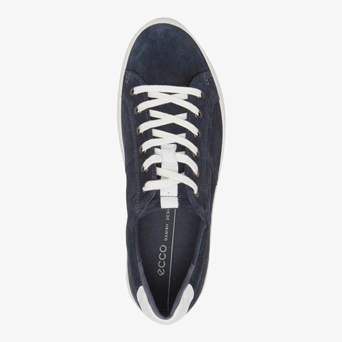 ECCO CS20 M leren heren sneakers Blauw Maat 42