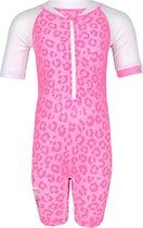 JUJA - UV Zwempak voor baby's - korte mouwen - Leopard - Roze - maat 86-92cm