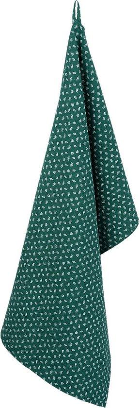 Keukendoek | 50*85 cm | Groen | 100 % katoen | rechthoek | winters | Clayre & Eef | WF42C