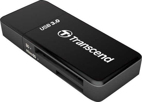 Transcend - Kaartlezer (SD, microSD, SDHC, microSDHC, SDXC, microSDXC, SDHC UHS-I, SDXC UHS-I) - USB 3.0