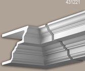 Binnenhoek Profhome 431221 Exterieur lijstwerk Hoeken voor Wandlijsten Gevelelement neo-classicisme stijl wit