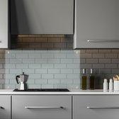relaxdays achterwand keuken glas - veiligheidsglas - doorzichtig spatscherm keuken 100 cm 100x50 cm