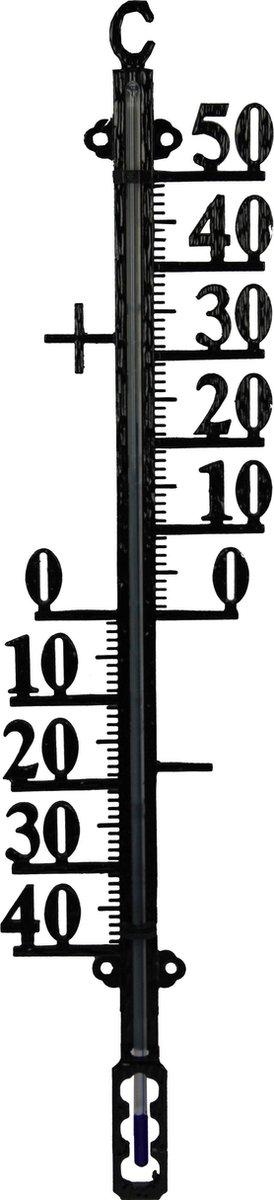 Talen Tools - Buitenthermometer - Metaal - Min/Max - 38 cm - Zwart