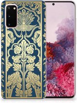 Back Cover Samsung S20 TPU Siliconen Hoesje Golden Flowers