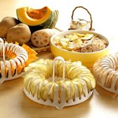 Chips maker | Aardappelsnijder | Dunschiller | Chipsmaker | Wit & oranje | 20 x 4 cm | Inclusief dunschiller