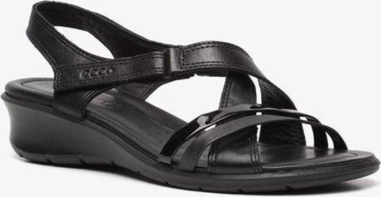 ECCO Felicia leren dames sandalen Zwart Maat 40