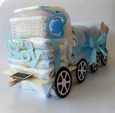 Luiertaart Vrachtwagen Blauw   Kraamcadeau   Kraampakket   Baby Cadeau