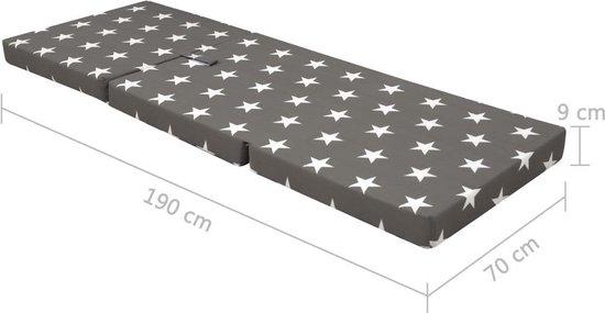 vidaXL Schuimmatras inklapbaar 190x70x9 cm grijs