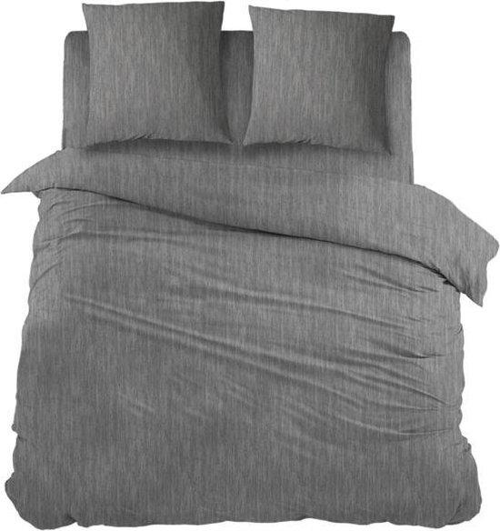 Snoozing Brigitte - Dekbedovertrek - Lits-jumeaux - 270x200/220 cm + 2 kussenslopen 65x65 cm - Antracite