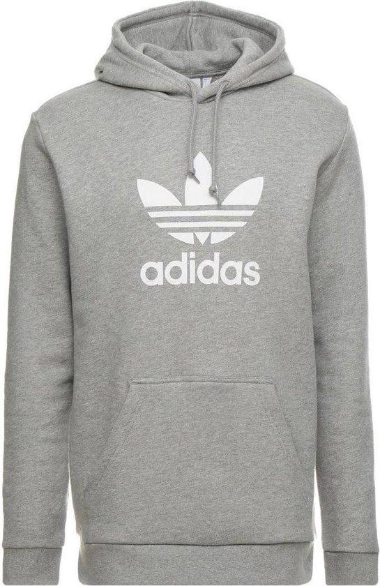 adidas Originals Trefoil Hoodie Heren - Medium Grey Heather - Maat XL