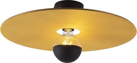 QAZQA combi Plafondlamp 1 lichts Ø 450 mm Geel