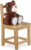 relaxdays - kinderstoel bamboe - stoel voor kinderen, stoeltje zonder armleuning