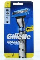 Gillette Mach3 Turbo Scheersysteem + 1 Scheermesje Mannen