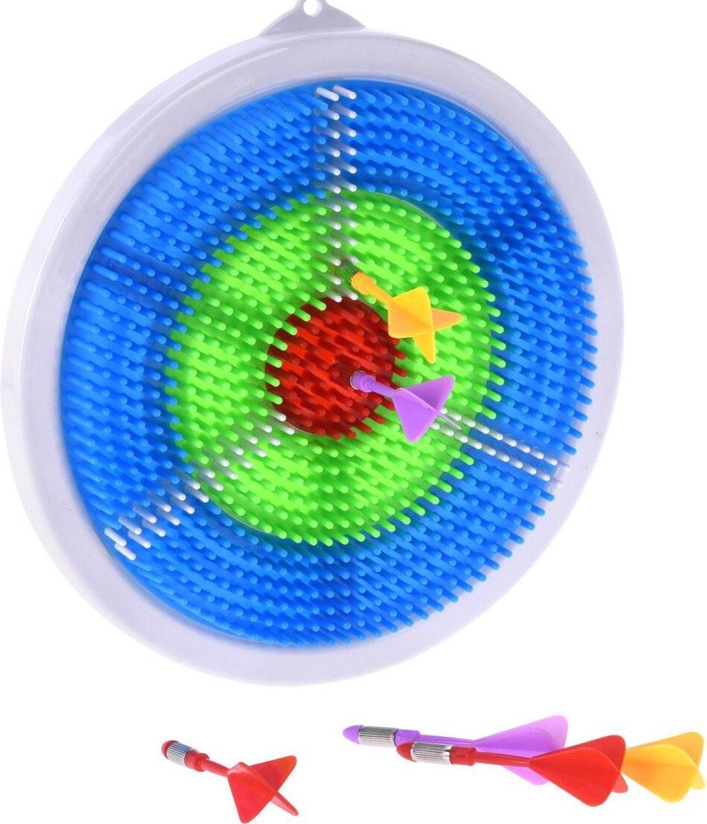 Free And Easy Dartbordset Junior 23,5 Cm Wit/blauw 7-delig