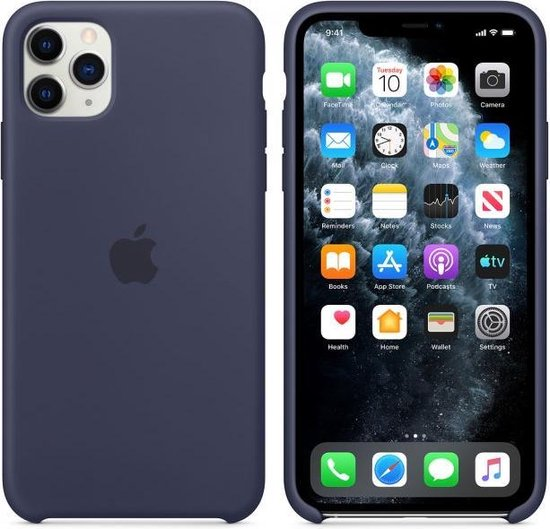 Apple Silicone Backcover iPhone 11 Pro Max hoesje - Midnight Blue