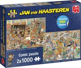 Jan van Haasteren A Trip to the Museum puzzel - 2 x 1000 stukjes (without gift)